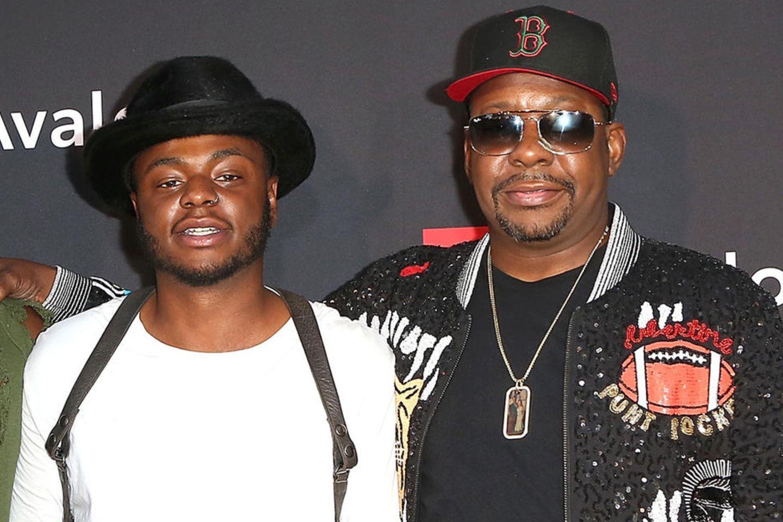 Bobby Brown Jr. mit seinem Vater Bobby Brown 2018 bei einer Filmpremiere in Hollywood