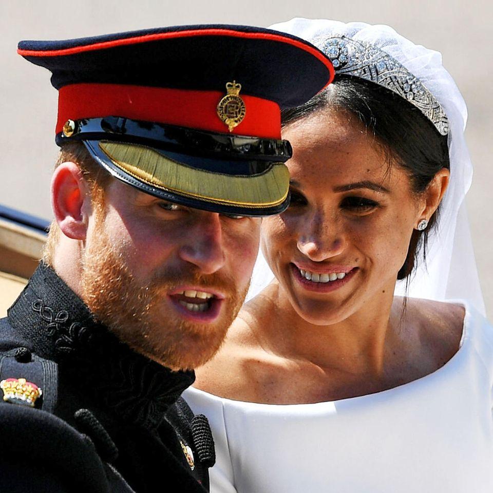 Prinz Harry und Herzogin Meghan bei ihrer Hochzeit am 19. Mai 2018
