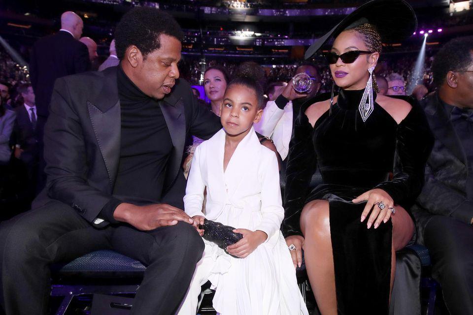 Jay-Z, Blue Ivy und Beyoncé bei den Grammys 2018