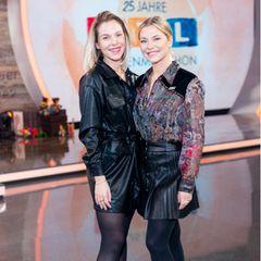 """Zugegeben: Bei Valentina Pahde (rechts) musste man schon vor ihrer Teilnahme bei """"Let's Dance"""" genau hinschauen, um Fettpölsterchen zu finden..."""