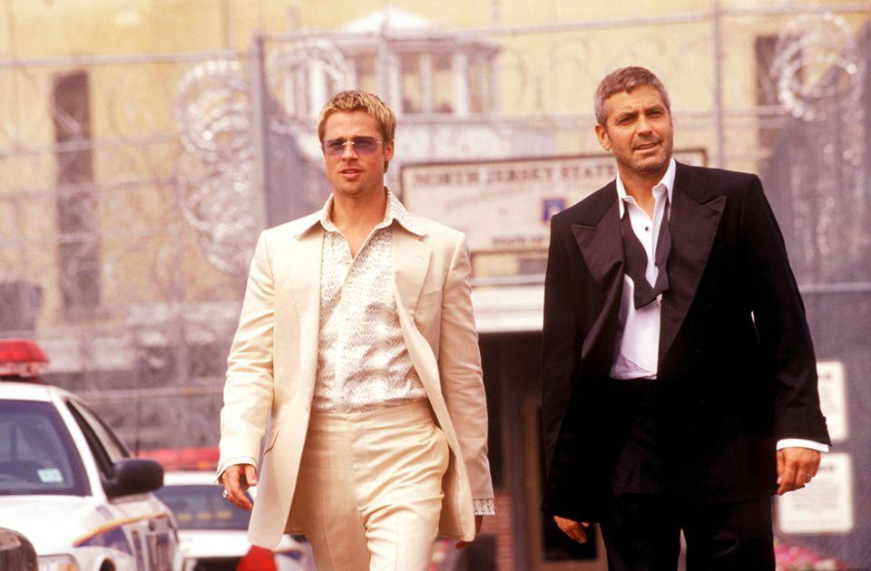 "George Clooney mit Brad Pitt in ""Ocean's Eleven"""