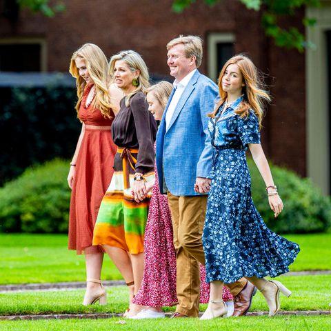Königin Maxima, König Willem-Alexander, Prinzessin Amalia, Prinzessin Alexia und Princess Ariane.