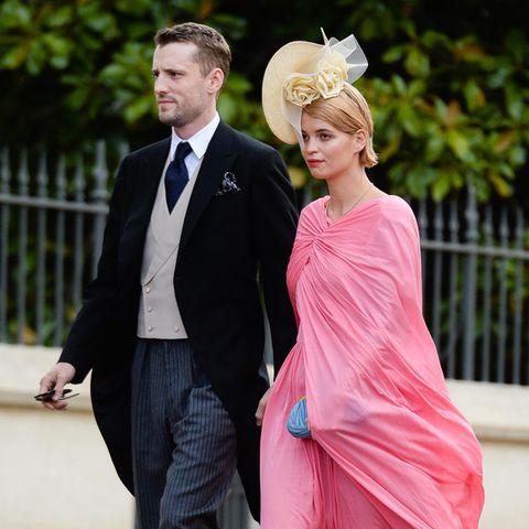 George Barnett und Pixie Geldof besuchen 2018 die Hochzeit von Prinzessin Eugenie.