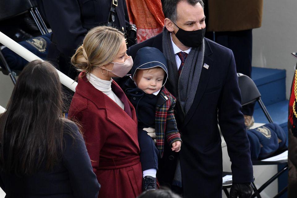 Hunter Biden besucht mit seiner Frau Melisse und dem gemeinsamen Sohn die Amtseinführung von Joe Biden am 20. Januar 2021.