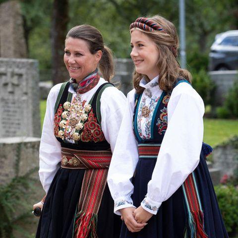 Heute wird die Enkelin des norwegischen Königs Harald V. und Königin Sonja, Leah Isadora Behn,16 Jahre alt. Die Nummer sechs der norwegischen Thronfolge zeigt sichbei offiziellen Anlässen eher brav, aberüberzeugt mit einer coolen Frisur und Nationaltracht. Auf Instagram präsentiert sich der Teenager aber auch ganz anders ...