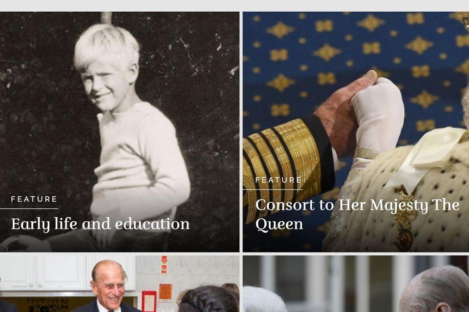 Die Website der Königsfamilie erinnert an Prinz Philip.