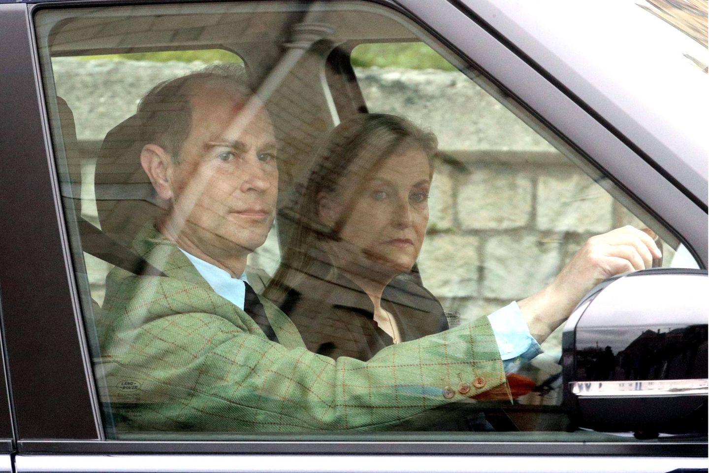 Prinz Edward und Gräfin Sophie bei ihrer Ankunft am Schloss Windsor am Samstag, 10. April 2021