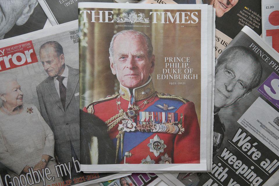 """""""The Times"""" ehrt Prinz Philip mit einem schlichten Porträtfoto."""
