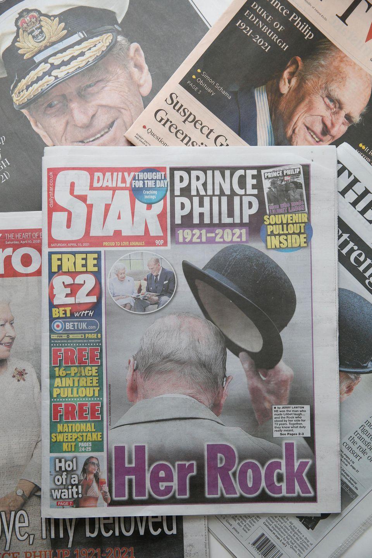 """""""Daily Star"""" titelt am Samstag, 10. April 2021, mit den Worten """"Ihr Fels""""."""