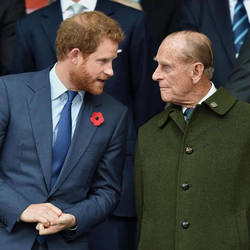 Prinz Harry undPrinz Philip (†99)