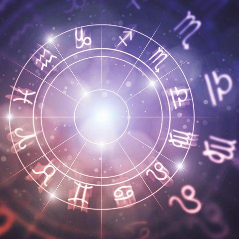 Horoskop: Die sternzeichen in einem Kreis