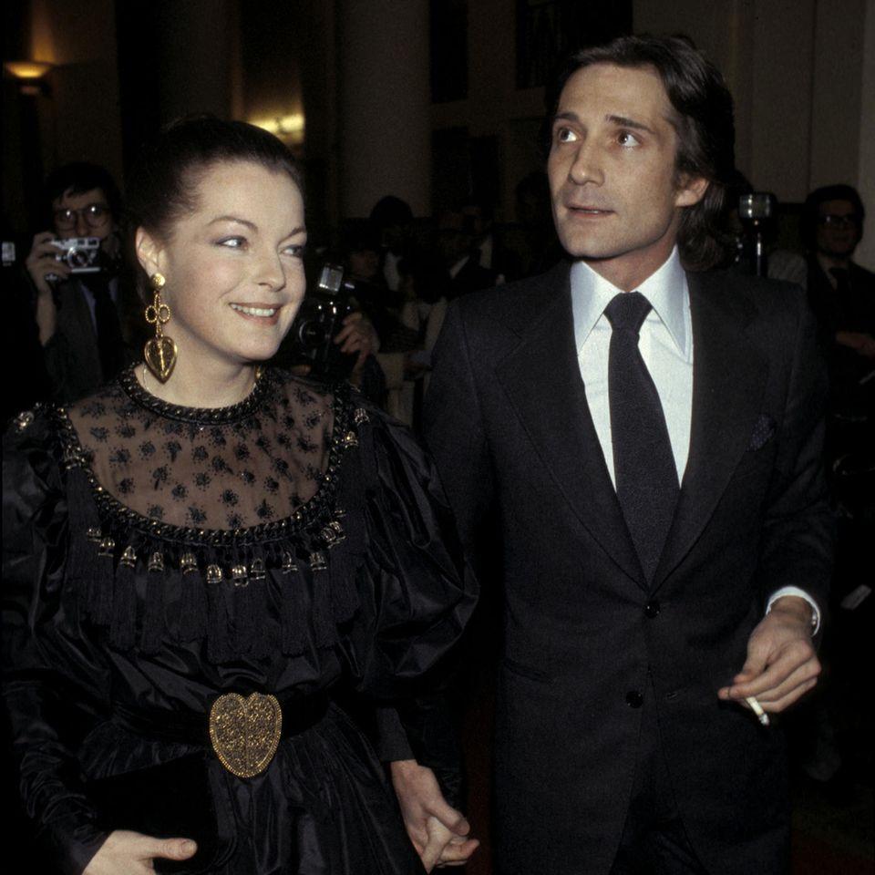 Romy Schneider (†) und Daniel Biasini1979 in Paris.