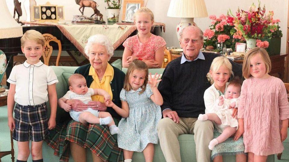 Queen Elizabeth, Prinz Philip und ihre Urenkel