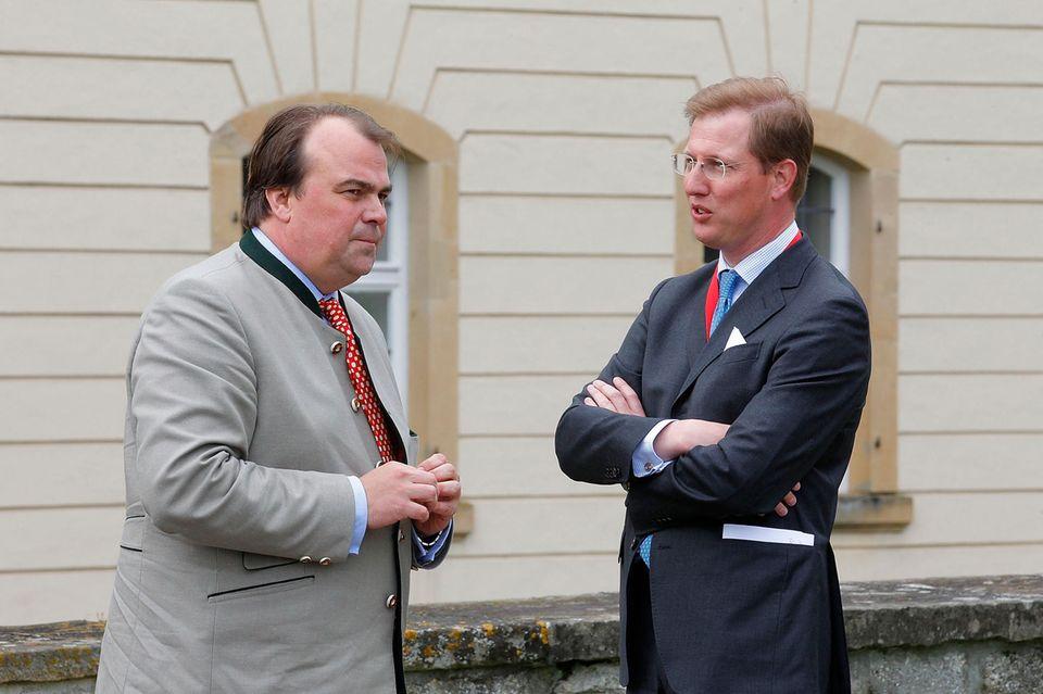 Prinz Philipp zu Hohenlohe-Langenburg (rechts) und Bernhard Prinz von Baden.
