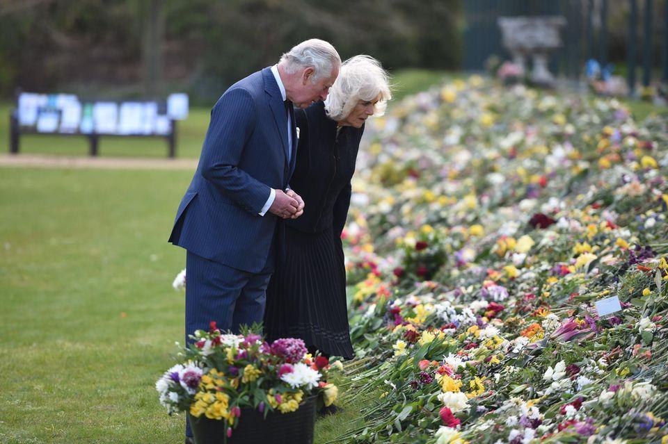 Ein Blumenmeer zu Ehren von Prinz Philip.