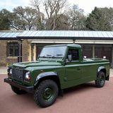 Der Land Rover wurde speziell für die Prozession von Prinz Philip konzipiert