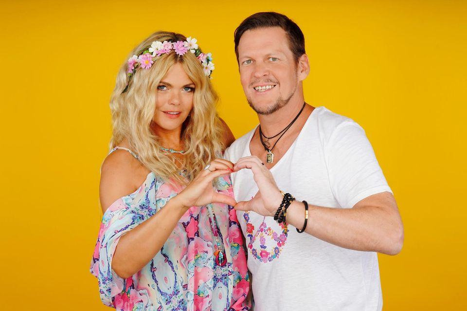 """Diana Herold und ihr MannMichael Tomaschautzki nahmen 2020 bei """"Das Sommerhaus der Stars"""" teil"""