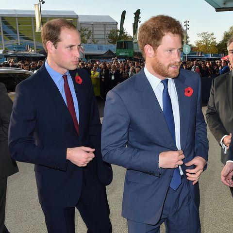 Die Welt schaut auf Prinz William und Prinz Harry.