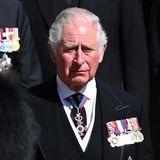 Prinz Charles kann seine Tränen nicht zurückhalten.