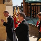 Die große Trauer ist Prinz, William, Peter Phillips und Prinz Harry ins Gesicht geschrieben.