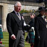 Neben Charles ist auch seine Schwester Prinzessin Anne in großer Trauer und doch gefasst.