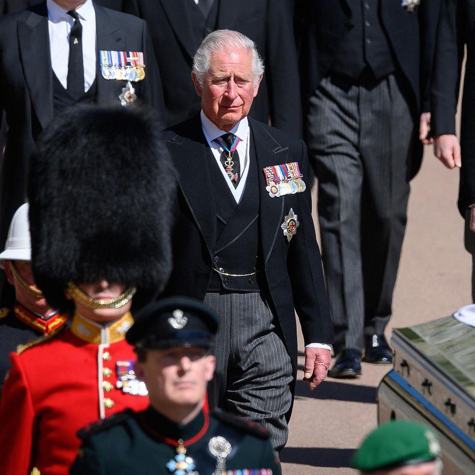 Prinz Charles trauert um seinen Vater, Prinz Philip.