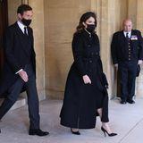 Auch Jack Brooksbank und Prinzessin Eugenie gehören natürlich zu den Trauergästen.