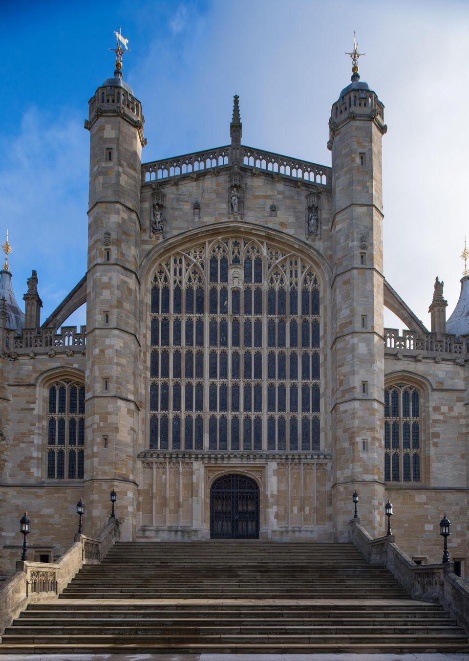 So sieht die St. George's Chapel aus, wenn kein Royal-Ereignis stattfindet.