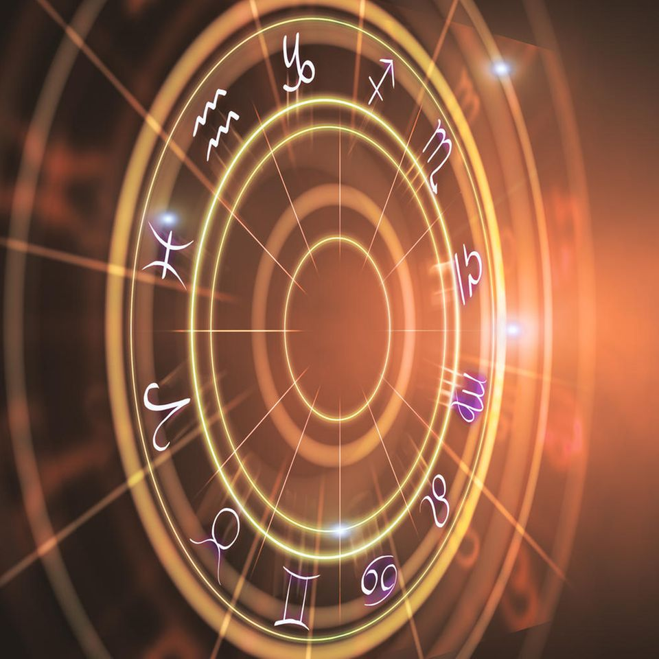 Horoskop: Eine Astrologie-Grafik