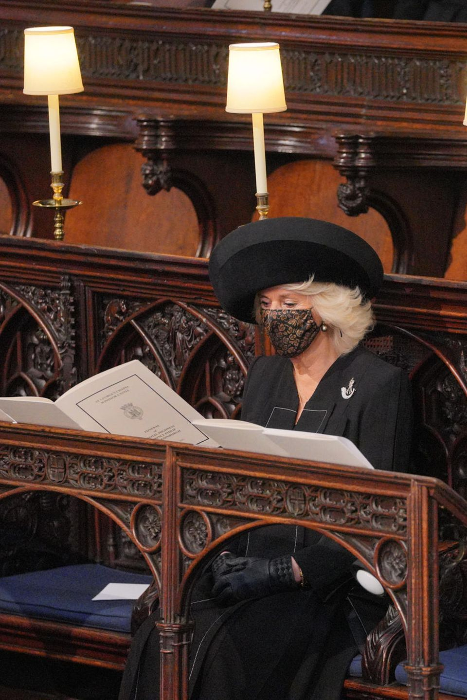 Herzogin Camilla bei der Trauerfeier für Prinz Philip (†) am 17. April 2021.