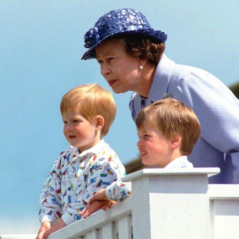 Prinz Harry, Queen Elizabeth und Prinz William