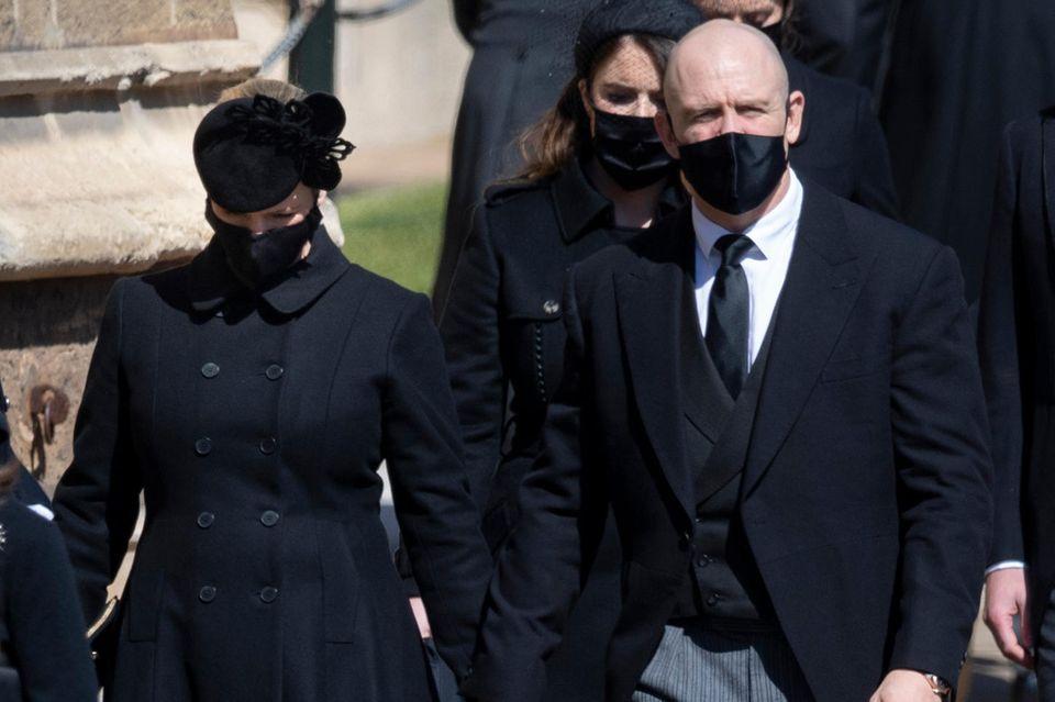 Zara und Mike Tindall am 17. April in Windsor.