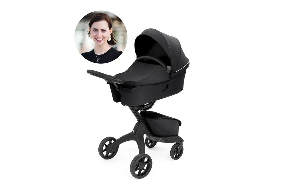 Redakteurin und Mama Kathrin ist begeistert von dem Xplory X, der sich der Größe des Babys perfekt anpasst.