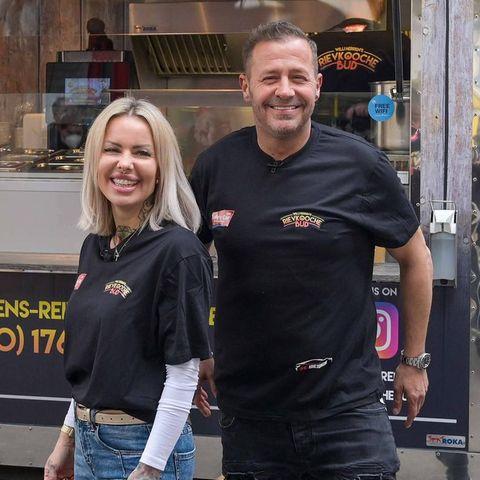 Willi Herren mit seiner Geschäftspartnerin Desiree Hansen