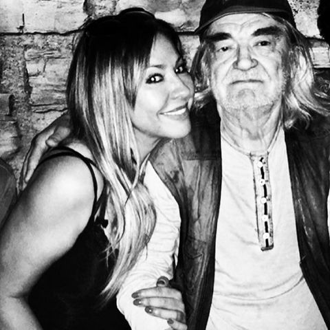 Simone Thomalla mit ihrem Vater