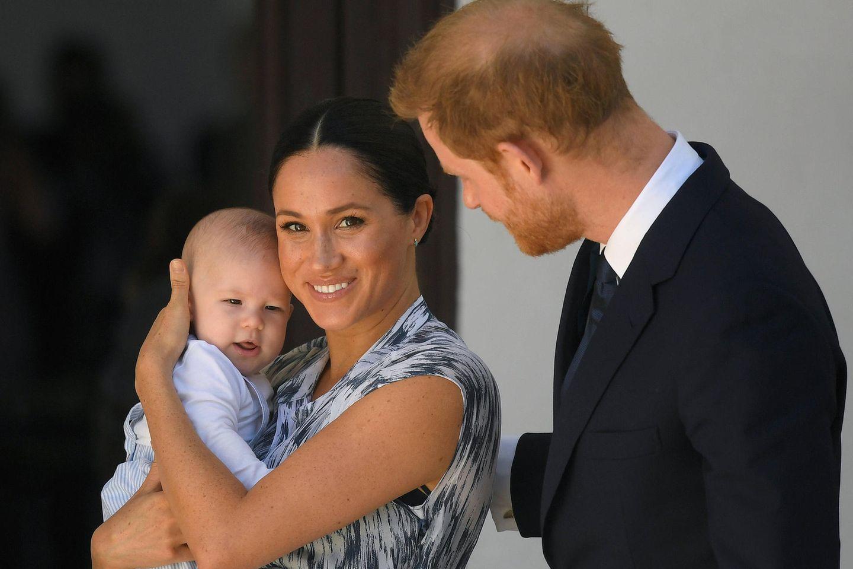 Herzogin Meghan und Prinz Harry mit ihrem Sohn Archie