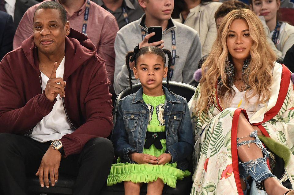 Jay-Z mit TochterBlue Ivy und Ehefrau Beyoncé