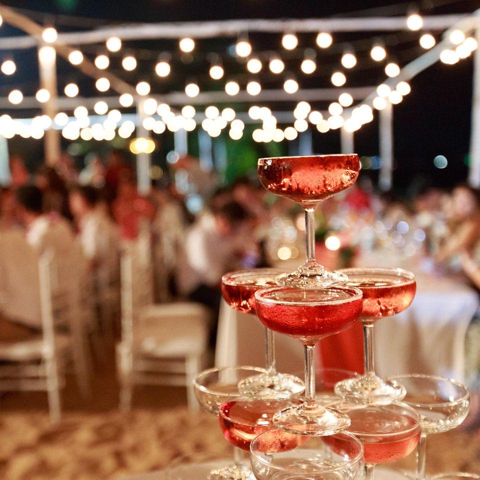 Hochzeit: Sektempfang