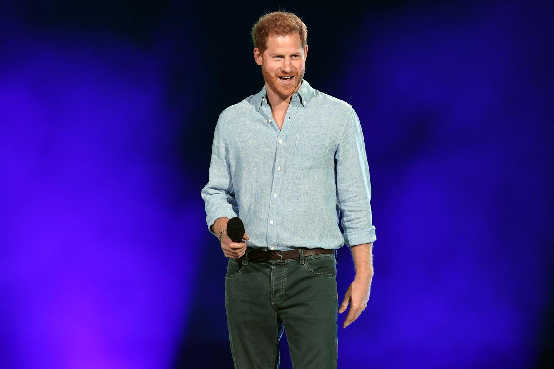 """Prinz Harry am 2. Mai 2021 während des """"Global Citizen VAX LIVE""""-Konzerts in Inglewood, Kalifornien"""