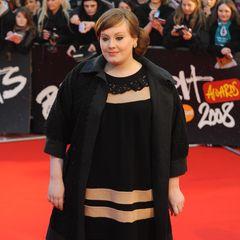 Erinnern Sie sich noch: So sahMegastar Adele 2008 während ihrermusikalischen Anfängeaus:damals noch deutlich runder und mit roter Retro-Frisur.