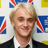 """Seine wasserstoffblond gefärbten Haare waren damals sein Markenzeichen: Tom Felton musste sich für die Rolle des Draco Malfoy in dem Kult-Fantasy-Film """"Harry Potter"""" optisch verwandeln. Mittlerweile hat der 33-Jährige wieder dunkelblondes Haar. Doch einen deutschen Double hätte Draco damals gehabt ...."""