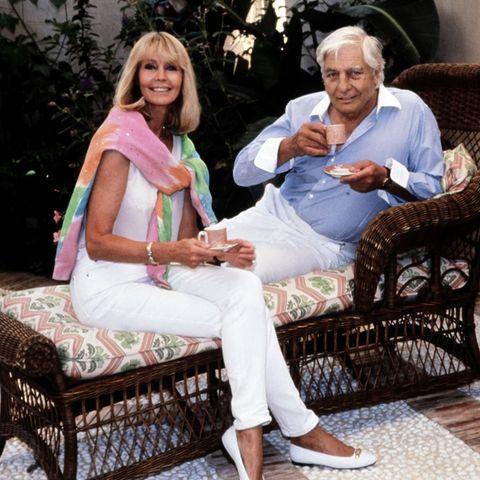 Mirja und Gunter Sachs im Oktober 1992 in Saint-Tropez.