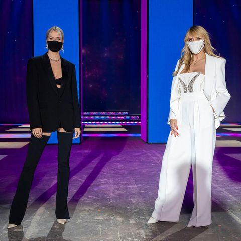 """GNTM: Lena Gercke (l.) unterstützt Heidi Klum in der 14. Folge von """"Germany's Next Topmodel 2021"""""""
