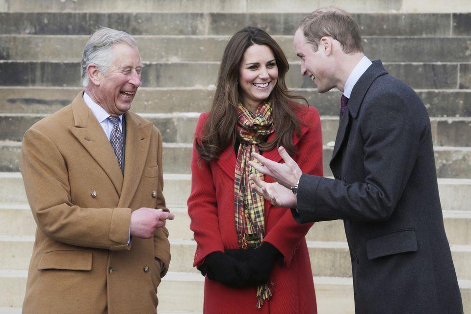 Prinz Charles, Herzogin Catherine und Prinz William