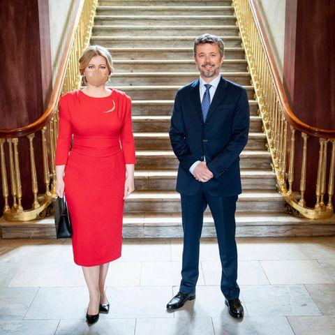 Prinz Frederik empfängt die Präsidentin der Slowakei Zuzana Čaputová auf Schloss Amalienborg in Kopenhagen.
