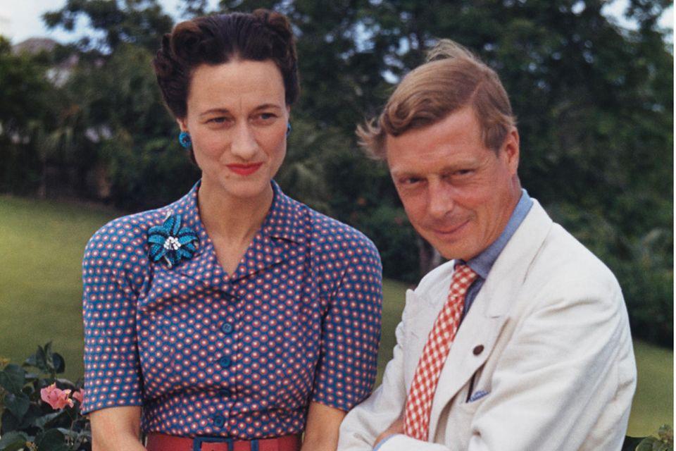 Der Herzog und die Herzogin von Windsor, auch bekannt als Wallis Simpson und Prinz Edward, der ehemalige König Edward VIII.