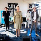 """Königin Màxima ist Ehrenpräsidentin von """"Mehr Musik im Klassenzimmer"""". Bei ihrem Besuch der Feierlichkeiten warten einige musikalische Vorführungen auf Màxima, die ihr besonders gut gefallen."""