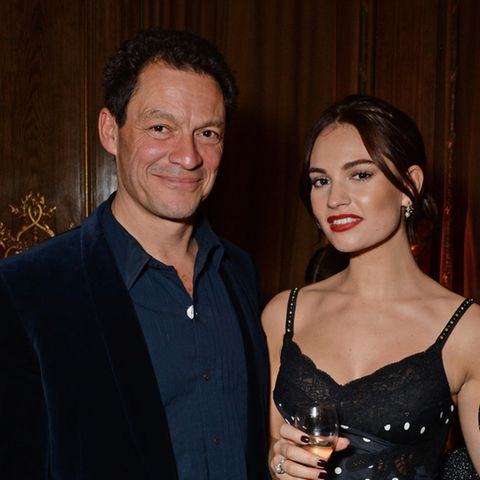 Dominic West und Lily James
