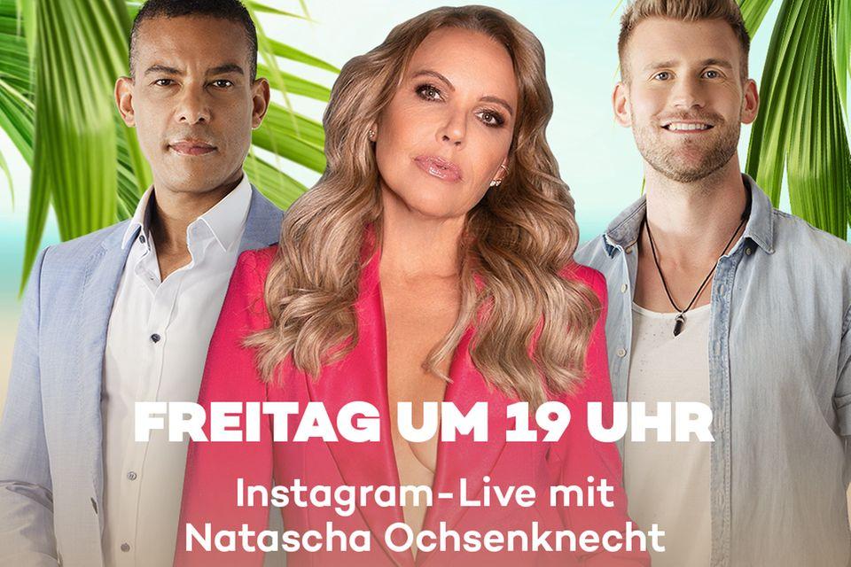 """Natascha Ochsenknecht mit den beiden Protagonisten der zweiten Staffel """"M.O.M"""""""