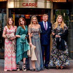 Die Feierlichkeiten zu Máximas 50. Geburtstag (17. Mai) beginnen! Die niederländischen Royals besuchen am 12. Mai ein Theater und haben sich dafür richtig in Schale geworfen.